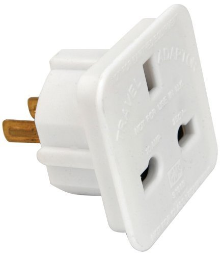ShaniTech Pack of 2 UK to US Travel Adaptor suitable for USA, Canada, Mexico, Thailand - Refer to Description for country list White
