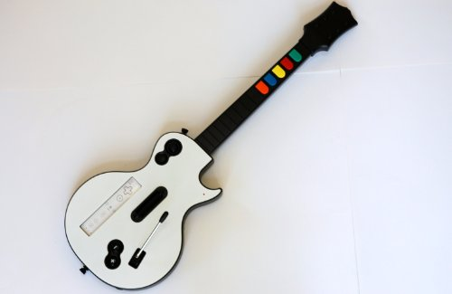 wireless guitar for wii guitar hero and rock band games excluding rock band 1 695881011025 ebay. Black Bedroom Furniture Sets. Home Design Ideas