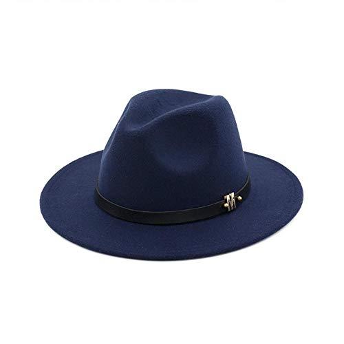 Weile League Felt Ms. Autumn Winter Woolen Hat Flat Brimmed Black Hats Caps
