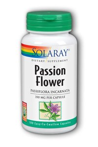 Solaray - Passion Flower, 350 mg, 100 capsules