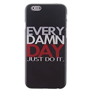 For iPhone 5C Case, Fashion Just Do It Pattern Protective Hard Phone Cover Skin Case For iPhone 5C +Screen Protector
