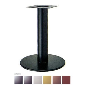 e-kanamono テーブル脚 ソフトS7440 ベース440φ パイプ76.3φ 受座240x240 基準色塗装 AJ付 高さ700mmまで ゴールドメタリック B012CF7WTW ゴールドメタリック ゴールドメタリック