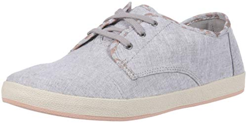 neaker, Drizzle Grey Slub Chambray/Cheetah Print, 9.5 Medium US ()