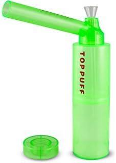 TOP PUFF Parte superior Puff portátil Bong con botella–Sistema de conversión de fumar Tubería de agua portátil (con botella) botella [color al azar enviado]