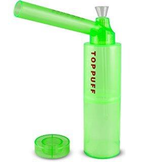 TOP PUFF Parte superior Puff portátil Bong con botella – Sistema de conversión de fumar Tubería