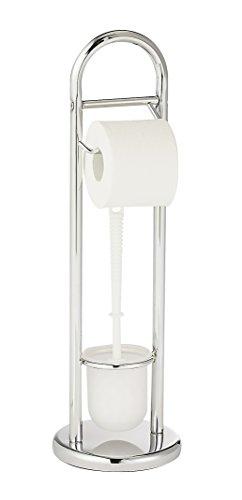 WENKO 15438100 Stand WC-Garnitur Siena Chrom, Stahl, 19 x 63 x 19 cm, Chrom
