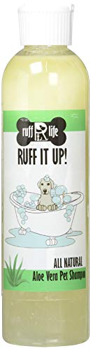 Ruff It Up All Natural Aloe Vera Shampoo, Concentrated, Soothing, Moisturizing, Dry Skin, Itchy Skin, Allergy, Made in The USA