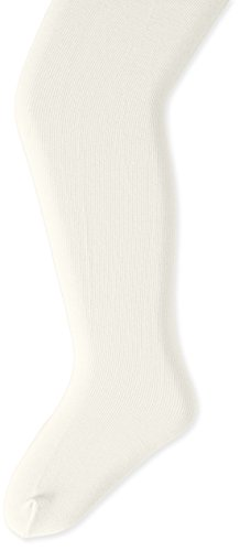 (Country Kids Little Girls' Pima Cotton Tights, Ivory, 6-8 Years )
