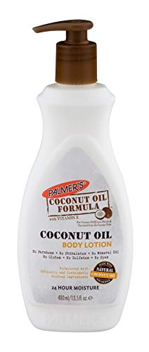Palmer's Coconut Oil Formula with Vitamin E Body Lotion  |  Made with Natural Coconut Oil & Monoi  |  For All Skin Types  |  24 Hour Moisturization  |  Pump Bottle 13.5 fl. oz.