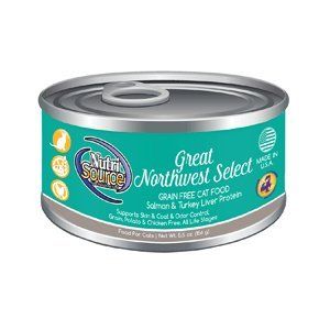 Nutri Source Grain Free Great Northwest Select Canned Cat Food 12/5.5oz Case