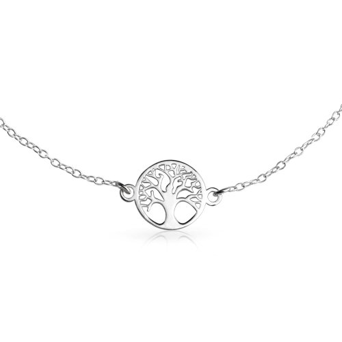 Bling Jewelry Celtic Tree of Life Anklet 925 Silver Adjustable 10in E6aRTzS4