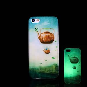 iPhone 5S Case, WBowen Teapot Pattern Glow in the Dark Hard Case for iPhone 5 / iPhone 5 S