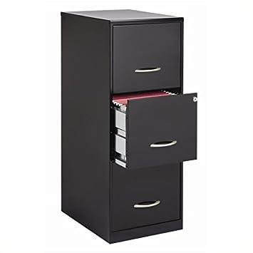 Oficina diseños 3 cajón archivador, hecho de acero negro de acero para mayor durabilidad: Amazon.es: Oficina y papelería