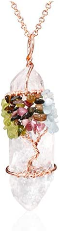 Jovivi Gemstone Wrapped Natural Necklace product image