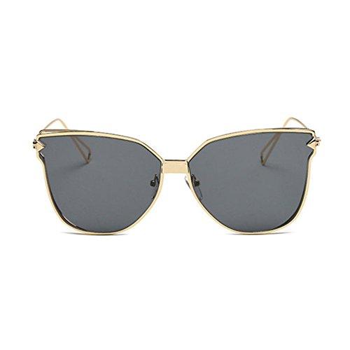 Aoligei Lunettes de soleil lady personnalité lunettes de soleil Europe et Amérique tendance de la mode en métal JpF2uX2w