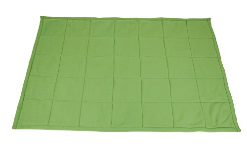 Abilitations Fleece Weighted Blanket, Small, Green