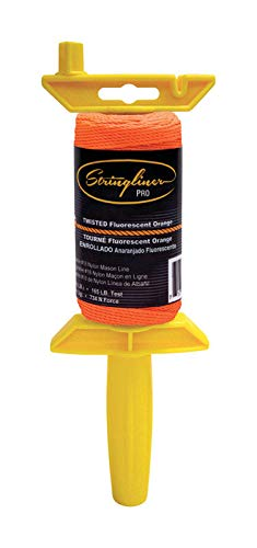 Stringliner 25106 ¼ Lb Twisted Orange Nylon Pro ReelReloadable Construction Ln by U.S. TAPE COMPANY INC.