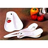 Gourmac White Twin Spoon Rest