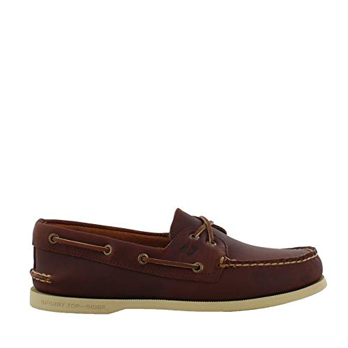 SPERRY Men's A/O 2-Eye Cross Lace Brown 3 7 M US