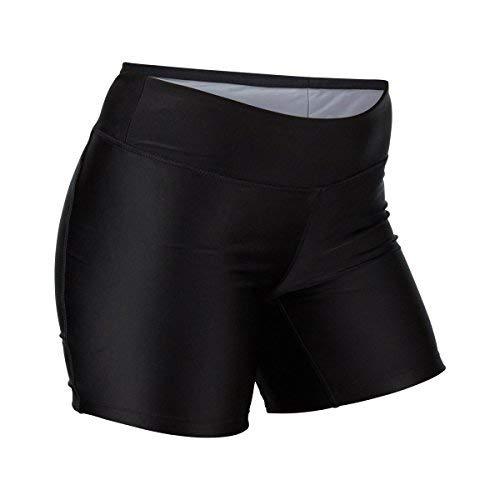 UV SKINZ UPF50+ Womens Active Swim Shorts-Black-XL (Chlorine Proof Swim Top)