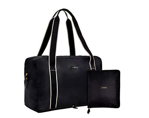 Folds Pack - Paravel Travel Fold-Up Bag Black Domino Black