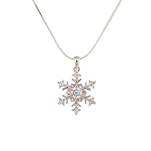Lux Accessories Frozen Delicate Winter Snowflake Charm