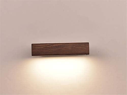 Lampada Da Parete Moderna A Led in Legno Massello Ruotata Comodino Luce Notturna Camera Da Letto Soggiorno Riparo Applique Decorazione Lampada Da Parete Art