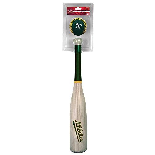 (Rawlings MLB Oakland Athletics Grandslam Bat and Ball, Green )