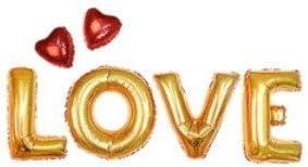 Share of happiness(シェアオブハピネス) 風船 LOVE ハート付き ウェディング 結婚式 パーティー イベント 二次会 バルーン 飾り ゴールド
