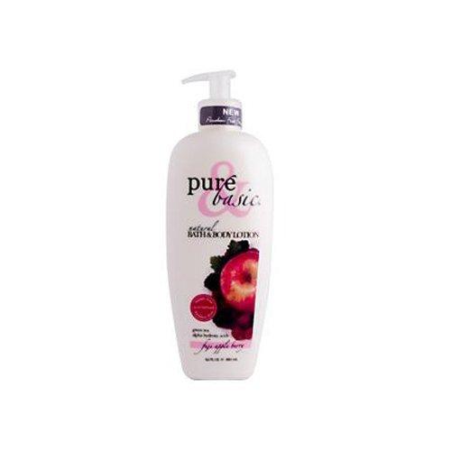 Pure & Basic, Natural Bath & Body Lotion, Fuji Apple Berry, 12 fl oz (350 ml) by Pure & - Fuji Basic Apple Berry