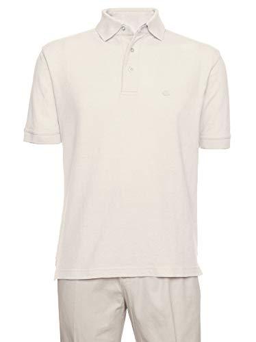 Aka Mens Tee - AKA Men's Solid Polo Shirt Classic Fit - Pique Chambray Collar Comfortable Quality Cream Medium