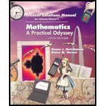Student's Solutions Manual for Johnson/Mowry's Mathematics: A Practical Odyssey