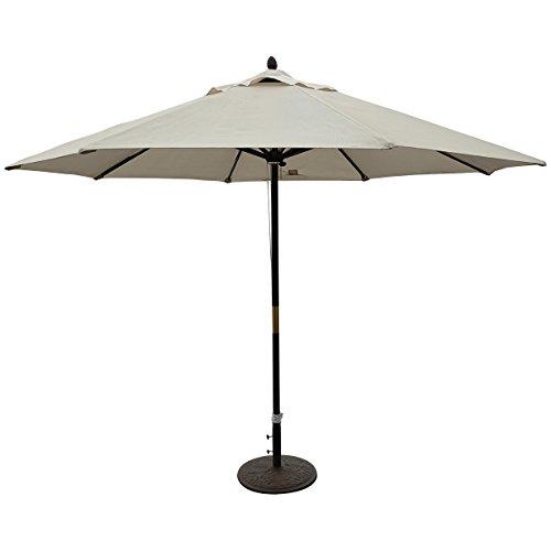 TropiShade 11-foot Patio Premium Unique Dark Wood Market Windproof Umbrella
