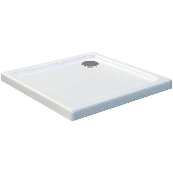 Glasdeals - Plato de ducha (80 x 80, cuadrado, extrafino, 50 mm ...