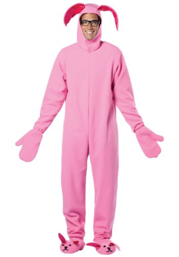 Rasta Imposta A Christmas Story Bunny Suit Costume, Pink, One (Toy Story Pajama Adult)