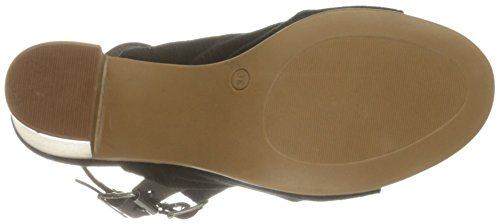 Women Ivy Suede Flat amp; Vachetta Bos Sandal Co Black Leather Rqxat0E