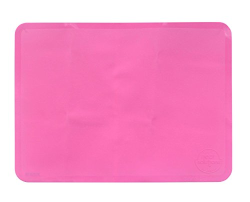 Neat Solutions Reusable Non-Slip Sili-Stick Table Topper, Pink Food Grade Silicone Placemats - BPA Free - Dishwasher Safe - 15
