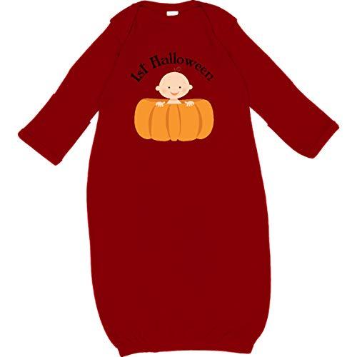 inktastic - 1st Halloween Baby Pumpkin Newborn Layette Red f665