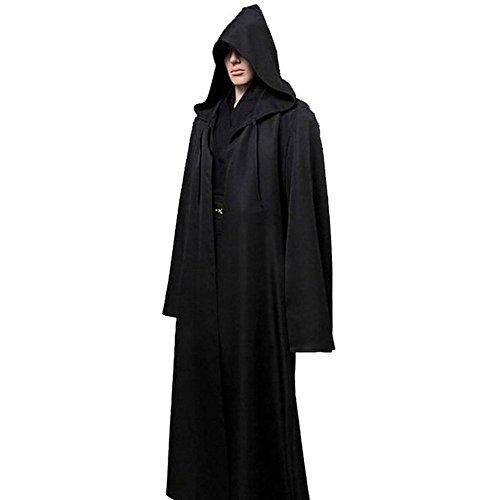 ESHOO Hooded Robe Cloak Cool Adult Jedi Cosplay Costume (Adult Purple Hooded Robe Costume)