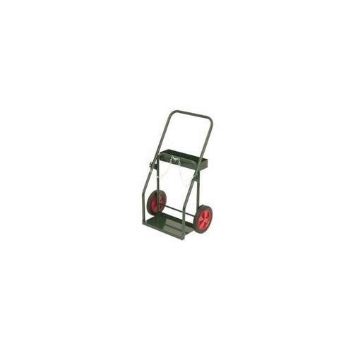 10 Inch Semi Pneumatic Wheels - Harper Trucks 150-15 39-Inch High by 23-Inch Wide Continuous Handle Cylinder Hand Truck with 10-Inch Semi-Pneumatic Wheels