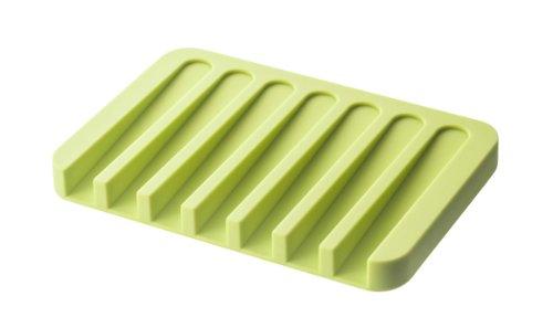 YAMAZAKI home Flow Silicone Soap Tray, Green