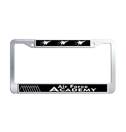 Air States Academy United Force - Nuoyizo United States Air Force Academy License Frame tag Hippie Waterproof Stainless Steel Metal Car Tag Holder with Bolts Washer Caps for US Standard