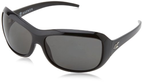 Kaenon Women's Madison Polarized Square, Black 63 ()