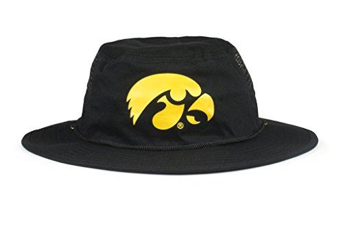 Cowbucker Collegiate boonie Hat | Officially NCAA Licensed (OSFA, Iowa Hawkeyes (Hawk Lightweight Hat)