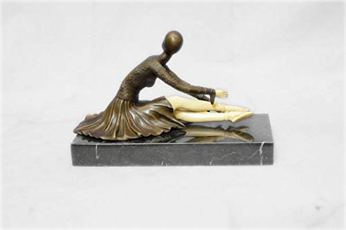Nice Looking Bronze Art Nouveau Deco Chiparus Reproduction Statue Figurine Sculpture Figure Gift