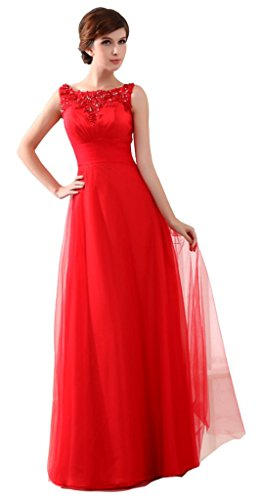 Linie Kleid Damen Drasawee Rot A REpAP
