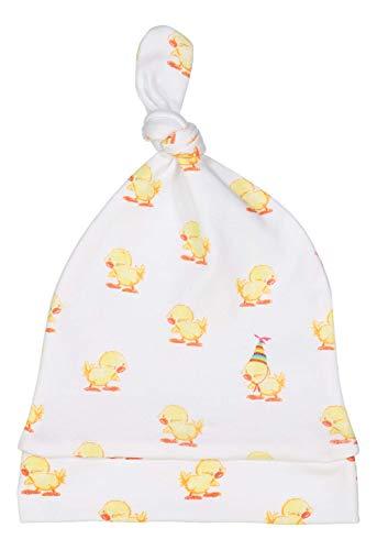giggle Printed Knot Hat - Baby giggle Duck- Organic Peruvian Pima Cotton Fabric, Baby Beanie Head Cap ()