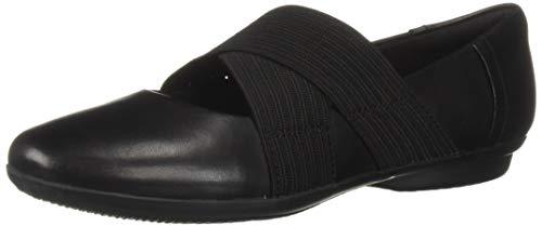 CLARKS Women's Gracelin Shea Ballet Flat Black Leather 7.5 M US