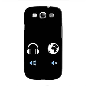 Cover It Up - Loud Head, Silent world Galaxy S3 Hard Case