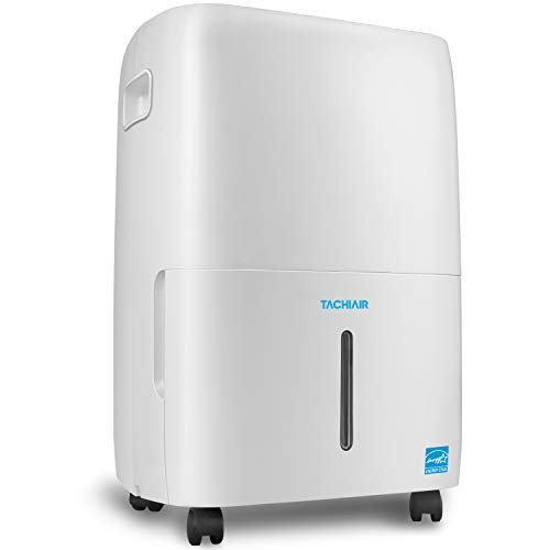 TACHIAIR 70-Pint Energy Star Quiet Portable Dehumidifier with Built-in Pump for RV Basement&Large Rooms up to 4500sq.ft, Intelligent Humidistat,Auto Shutoff/Restart,24hr Continuous Drainage,White (Best Basement Dehumidifier With Built In Pump)